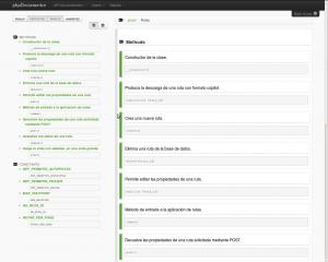 Ejemplo de documentación generado con phpDocumentor.